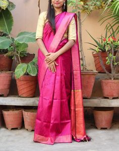 Buy Exclusive Pink Handloom Dupion Raw Silk Saree Online Shopping from Paarijaatham Dupion Silk Saree, Raw Silk Saree, Georgette Sarees, Saree Blouse, Sari, Silk Sarees Online Shopping, Mulberry Silk, Saree Collection, Blouse Styles