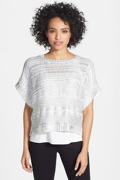 DKNYC Foiled Drop Shoulder Sweater//
