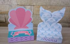 Elo 7, Ariel, Scrap, Mermaid, Mermaid Birthday, Silhouettes, Personalized Stationery, Personalized Party Favors, Crates