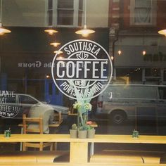 Southsea Coffee logo. I think logos like that look great printed on the window.