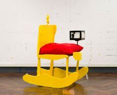 YELLOW rocking chair - children's drawings into real life furniture