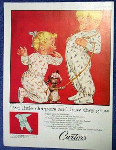 carters+vintage+ads | CARTER'S Childrens Sleepers Ad~Two Kids & A ... | Vintage Carter's ad ...
