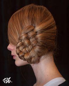 Fall/Winter Fashion Week. Hair by Bb. Stylist Rolando Beauchamp #fashionweek #fashion #hair #bumbleandbumble #braids #style