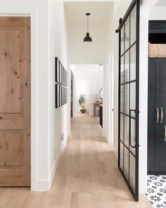 Floors are white oak with 3 coats of loba invisible finish.which adds no color or sheen . just protects the floors. This is from Lindsey Hill Interiors House Design, New Homes, Utah Designer, Glass Barn Doors, Hill Interiors, House Interior, House, Home, Interior