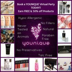 ******Virtual Party Hostesses WANTED******   Who's in? Message me for all the details so we can have you all set up for a successful Party.. Your friends will thank you for introducing them to such an amazing cosmetic line with the fabulous 3D Fiber Lashes.. Book a virtual Younique Facebook party with me to earn free & 50% off makeup you and your girlfriends will love!  www.youniqueprodu... www.facebook.com/...