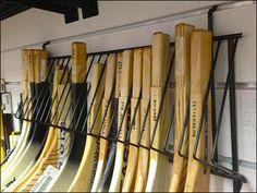 Hockey Blade Slatwall Rack Detail