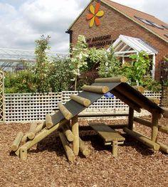 Garden playhouse/climbing frame