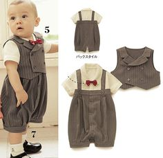 Gentleman styles boys suit/Popular baby suit/Stripe vest+ baby romper -in Clothing Sets from Apparel & Accessories on Aliexpress.com