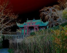 Marble House Chinese Tea House at Marble House Newport Rhode Island Color Photograph