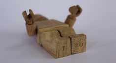 """Wooden Lego """"Art Toy"""" by Malet Thibaut"""