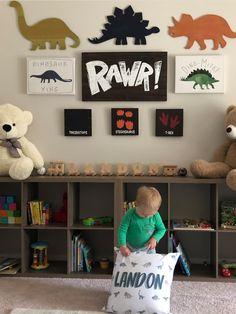 Little Boy Bedroom Ideas, Big Boy Bedrooms, Boys Bedroom Decor, Little Boys Rooms, Bedroom Colors, Boys Dinosaur Bedroom, Dinosaur Room Decor, Dinosaur Kids Room, Toddler Boy Room Decor