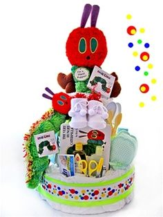 Hungry Catepillar Diaper cake - one of my fav books as a child.