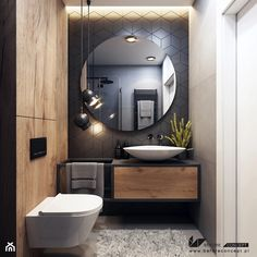 Wooden Bathroom, Modern Bathroom Decor, Bathroom Styling, Small Bathroom, Bathroom Lighting, Dark Bathrooms, Chic Bathrooms, Bathroom Design Luxury, Modern Shower