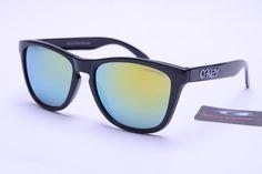 Oakley Frogskins Sunglasses Black Frame Colorful Lens 0404 Wholesale  Sunglasses f27c33ee355