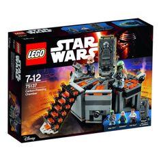 LEGO 75137 Camera di congelamento al carbonio.  Aiuta Han Solo a fuggire dalla sua prigione congelata!  Confezione dotata di centro di comando, letto di congelamento con funzione di congelamento, scale, ascensore e 3 minifigure. #HanSolo #StarWars #BobaFett #LegoStarWars #Lego  ------ ► Se ti piace fai un bel REPIN