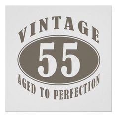GtgtgtCheap Price Guarantee Vintage 55th Birthday Gifts Print