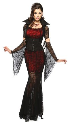 Sexy Floor Length Spider Demon Halloween Costume | Know more >> http://www.wholesalelolita.com/sexy-floor-length-spider-demon-halloween-costume-p-12928.html