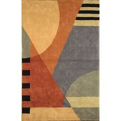 Safavieh Handmade Rodeo Drive Krave Blue/ Rust N. Wool Rug 6 x Modern Area Rugs, Contemporary Area Rugs, Orange Area Rug, Blue Area Rugs, Gold Rug, Weaving Techniques, Rugs Online, Wool Area Rugs, Rug Runner