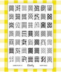 """Cheeky - Cheeky New 2013 Collection of Jumbo Nailart Polish Stamp Stamping Manicure Image Plates Accessories Set Kit. Nail Art Jumbo Image Plate 10- """"Happy Nails"""" , $11.00 (http://www.cheeky-beauty.com/cheeky-new-2013-collection-of-jumbo-nailart-polish-stamp-stamping-manicure-image-plates-accessories-set-kit-nail-art-jumbo-image-plate-10-happy-nails/)"""