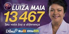 Luiza Maia é candidata a reeleição para deputada estadual. Defensora das mulheres, aprovou Lei da Ante Baixaria, de sua autoria, que impede a depreciação da mulher na musicas e manifestações populares bancadas pelo governo.