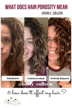Everything you need to know about hair porosity and how you can find out what yours is. Find out if you have high, medium, low, or a combo of porosity in your naturally curly hair. Take this short quiz to find out. Source by Curly_Colleen - Damp Hair Styles, Curly Hair Styles, Natural Hair Styles, Natural Wavy Hairstyles, Long Natural Curls, 80s Hairstyles, Hairstyle Men, Formal Hairstyles, Wedding Hairstyles