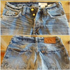 H & M Lad Fit Men's Jeans 28 x 32 H & M Lad Fit Mens Distressed button fly low waist bootcut jeans 28 x 32 inseam 30 H&M Jeans Boot Cut