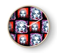 Clock #iconic #dancer #singer #actress #marilyn #famous #president #sexy #happybirthday