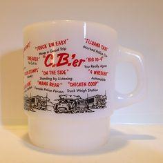 1950s-60s Fire-King C.B.' er Stacking Mug