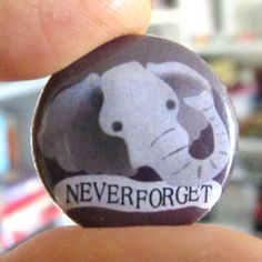 Elephants Never Forget Button (or Magnet). $1.50, via Etsy.