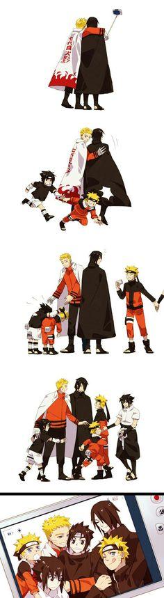 Naruto e sasuki Naruto Sasuke Sakura, Naruto Cute, Otaku Anime, Manga Anime, Naruto Mignon, Comic Naruto, Funny Naruto Memes, Naruto Drawings, Chibi