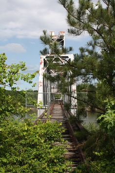 Abandoned railroad bridge in Alabama