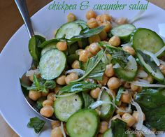 chickpea & cucumber salad by Heather@MamaSass, via Flickr