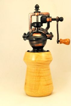 Perfect Gift Wood Pepper Mill, Handmade Vintage Style, Steampunk, Handcrafted by ASH Woodshops.  Makes an awesome gift by ASHWoodshops on Etsy