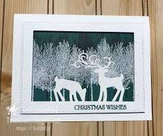 Holiday Catalog Sneak Peek Winter Woods ⋆ Tina Wardell~Stampin' Up! Carols Of Christmas Stampin Up Cards, Die Cut Christmas Cards, Homemade Christmas Cards, Christmas Deer, Christmas Animals, Xmas Cards, Handmade Christmas, Christmas Crafts, Holiday Cards
