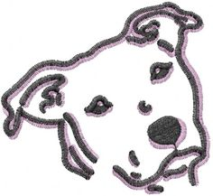 Pit Bull Face embroidery design