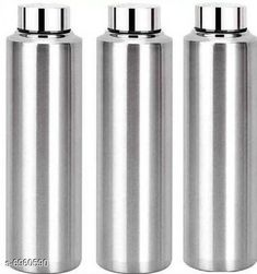 Water Bottles AKG Stainless Steel Fridge Water Bottle Material: Stainless Steel Pack: Pack of 3 Size (in ltrs): 975 ml Size: Free Size Country of Origin: India Sizes Available: Free Size   Catalog Rating: ★4.1 (1639)  Catalog Name: AKG Stainless Steel Fridge Water Bottle CatalogID_1111603 C130-SC1644 Code: 384-6960590-8121