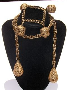 Vintage Joseff of Hollywood larait necklace and bracelet set @ $99.99