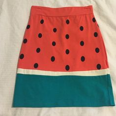 Adorable Watermelon Skirt  Worn once, fitted  skirt from UO Urban Outfitters Skirts