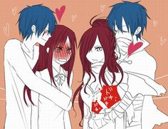 Fairy Tail (フェアリーテイル) - Jellal x Erza (Jerza) in both worlds (≧∇≦)💕 Image Fairy Tail, Fairy Tail Images, Fairy Tail Love, Fairy Tail Art, Fairy Tail Guild, Fairy Tail Ships, Fairy Tail Edolas, Fairy Tail Erza Scarlet, Fairy Tale Anime