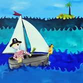 Found it at AllModern - Wit & Whimsy Pirate Canvas Print