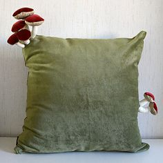 Handmade Fungus Adorned Cushions DIY