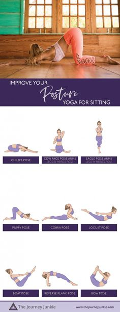 Yoga Practice to Combat Sitting: Open Your Chest, Stretch Your Shoulders, Improve Your Posture, Energize Your Body - The Journey Junkie Pilates Workout, Workouts, Puppy Pose, Bow Pose, Bedtime Yoga, Yoga Props, Gentle Yoga, Advanced Yoga, Yoga Dance