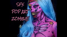 SFX Pop Art Zombie Makeup Tutorial I Reallymili