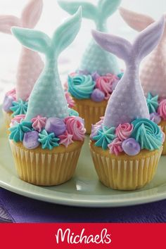 Make this summer mermaid cupcakes project it is the perfect sweet treat for any mermaid themed birthday party.