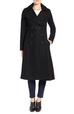 Free shipping and returns on French Connection Long Wool Blend Coat at Nordstrom.com. A fit-and-flare silhouette brings feminine flattery to a warm winter coat in a double-breasted trench style with military polish. The elegant mid-calf length adds an extra measure of practical coverage.