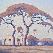 Sold | Pierneef, J.H | Noord Transvaal Model School, South African Artists, His Travel, Drawing Stuff, Mural Painting, Old Master, Impressionist, Printmaking, Drawings