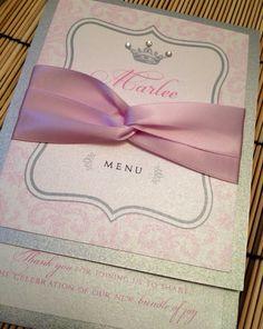 Princess baby shower invitations announcement meny via Etsy