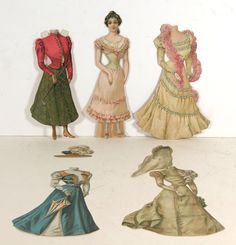 "CA1894 Set of Raphael Tuck Paper Dolls ""The Bride"" from Bridal Party Series 