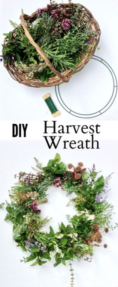 Learn how to easily make a beautiful wreath with flowers from your own backyard.