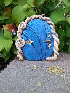 Polymer clay fairy door original art by Lillian George 2014